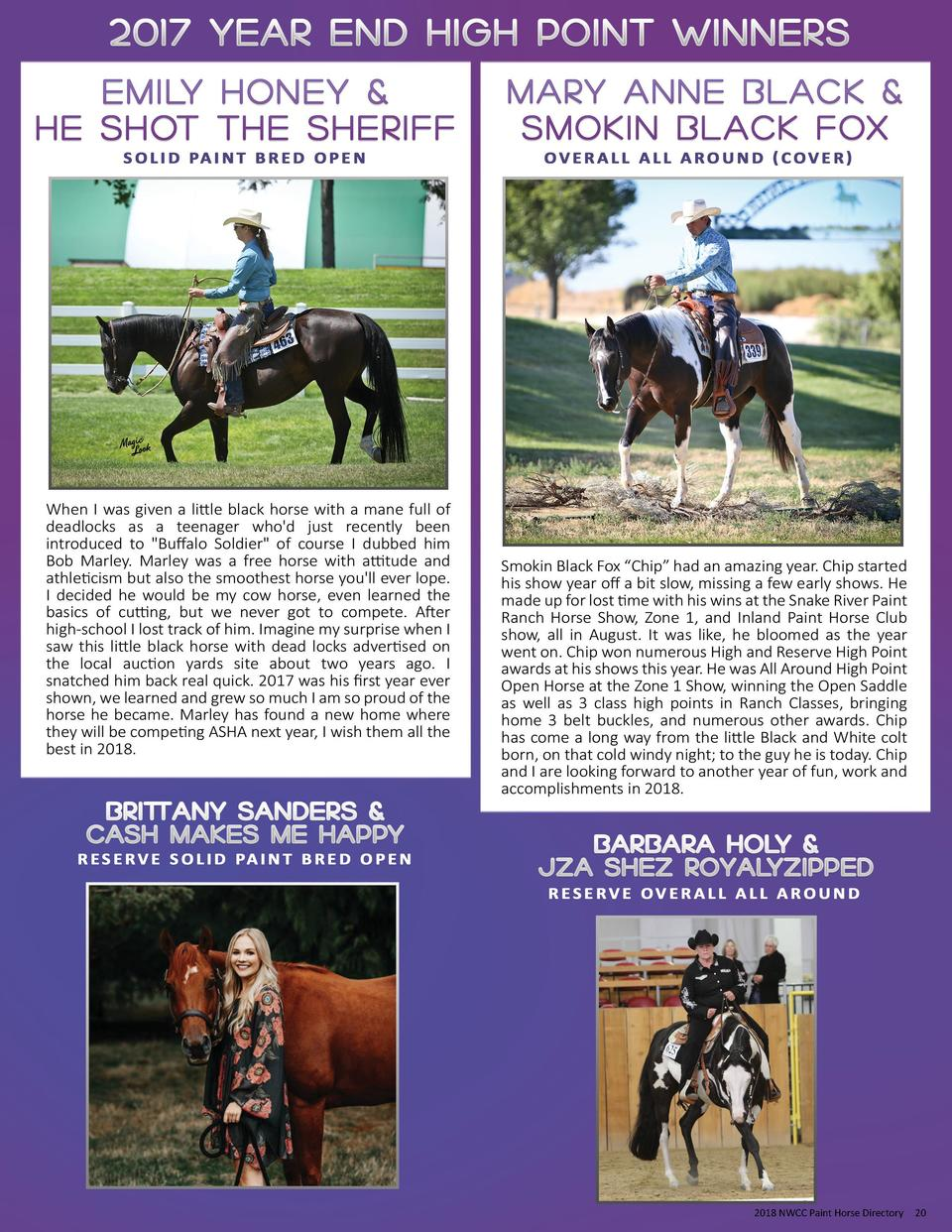 2018 NWCC Paint Horse Directory  20