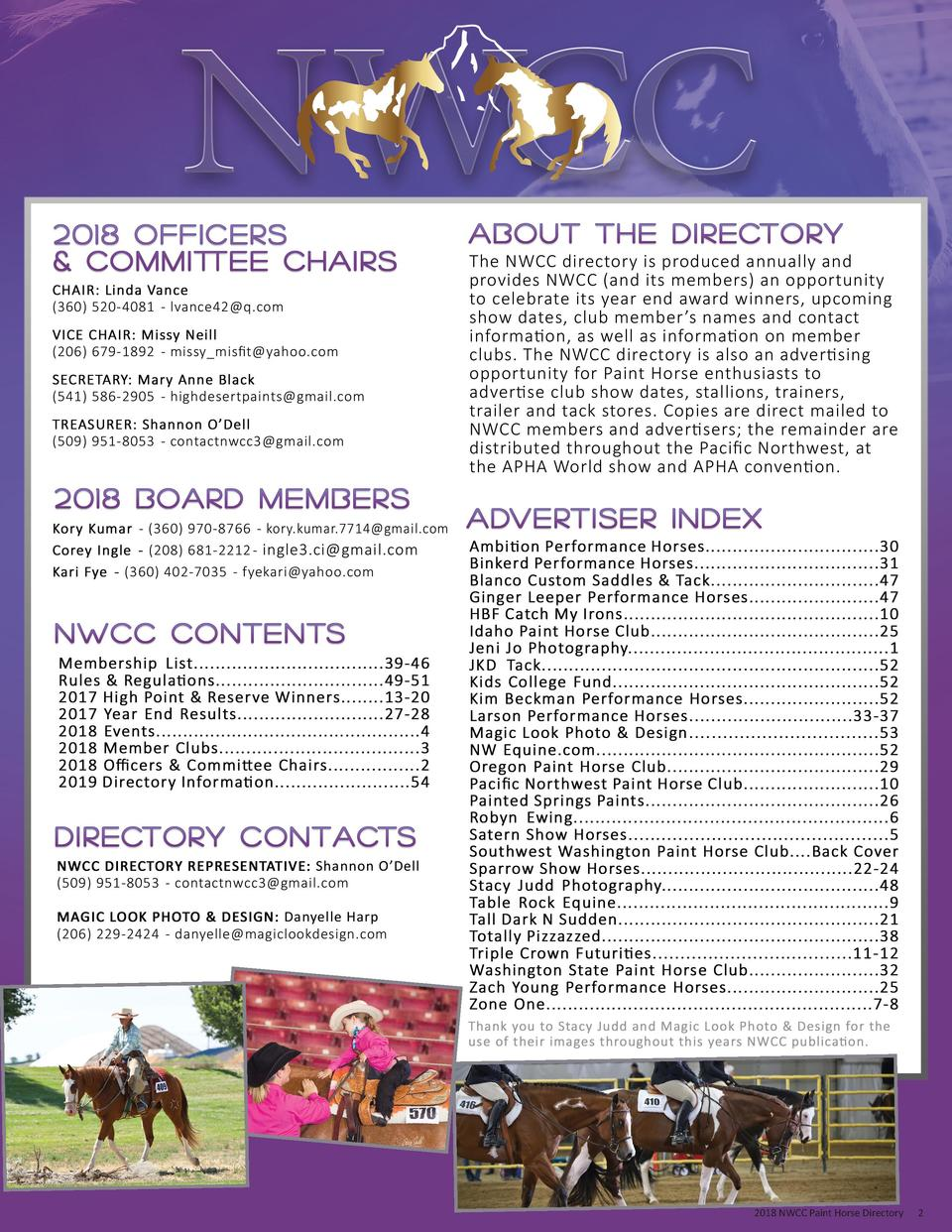 2018 NWCC Paint Horse Directory  2