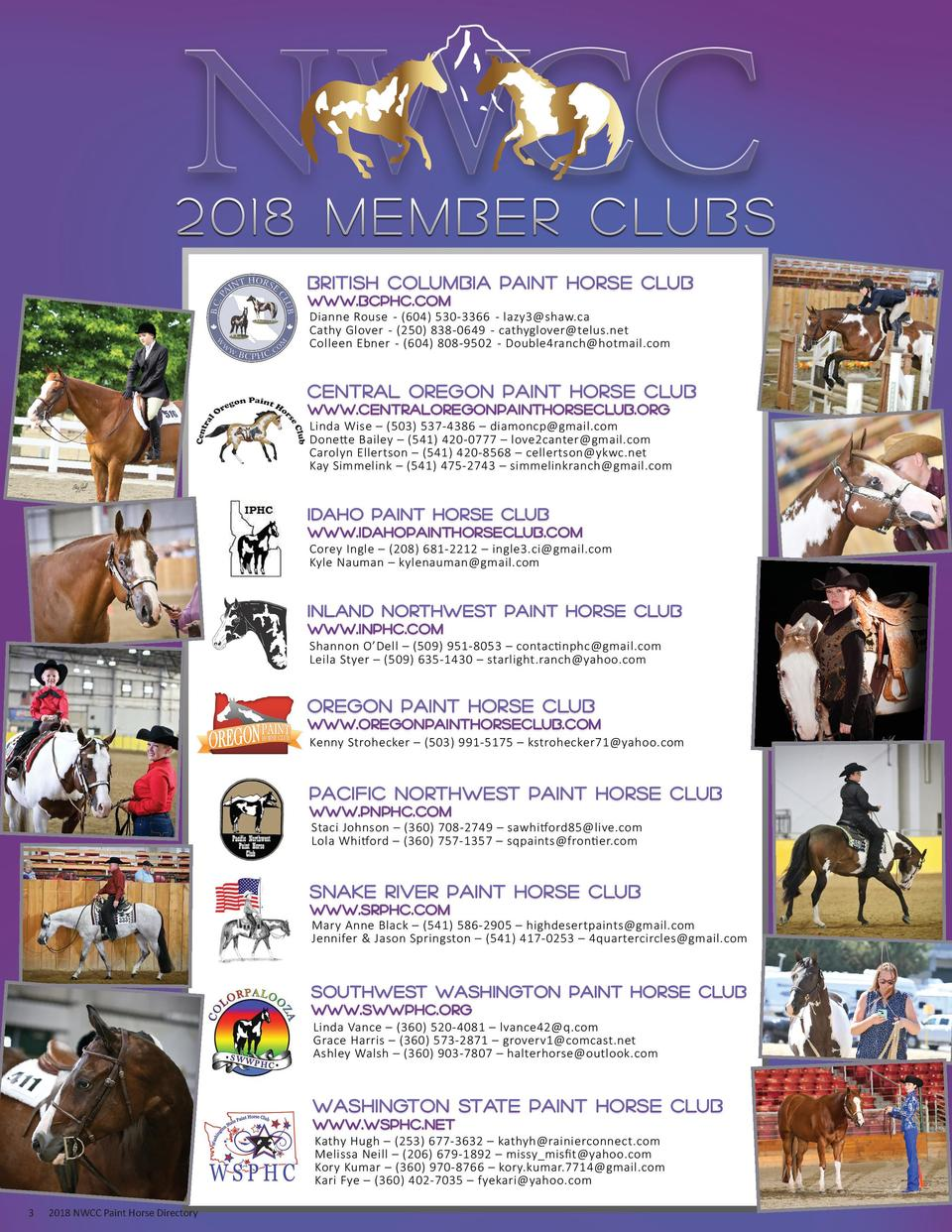 3  2018 NWCC Paint Horse Directory