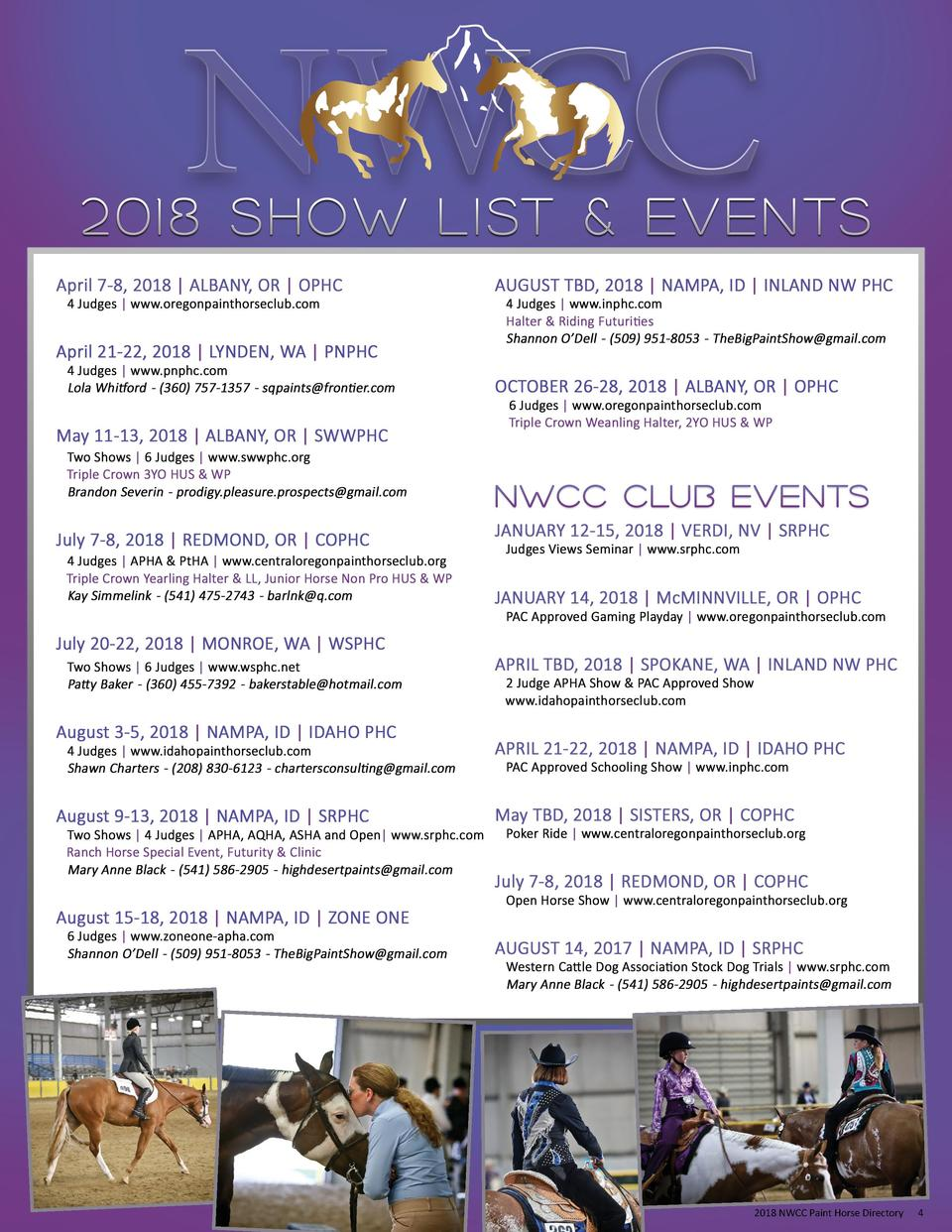 2018 NWCC Paint Horse Directory  4