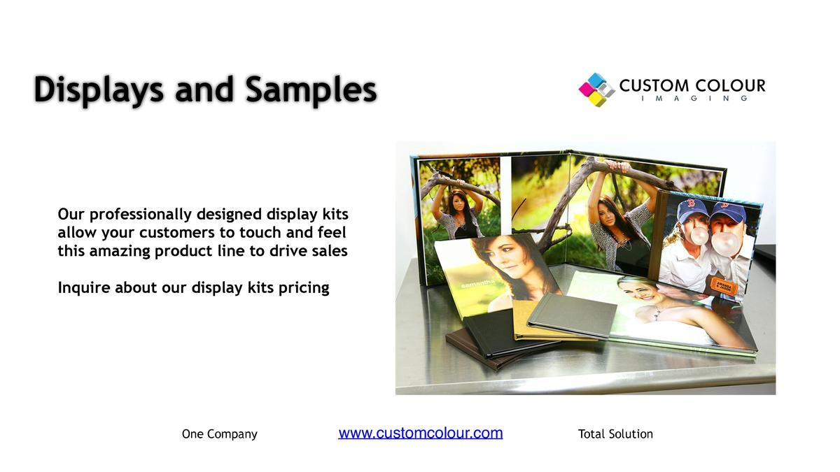 Displays and Samples      Our professionally designed display kits allow your customers to touch and feel this amazing pro...