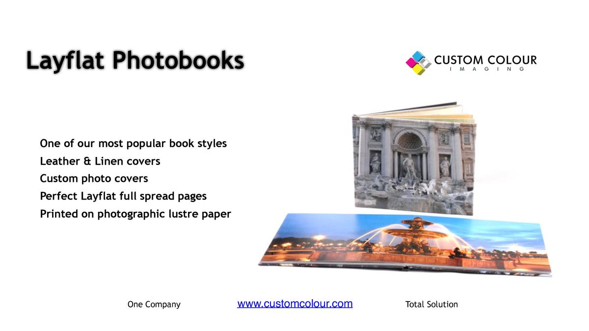 Layflat Photobooks      One of our most popular book styles     Leather   Linen covers     Custom photo covers     Perfect...