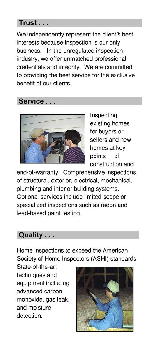 Who we are . . . InspectPro is experienced professionals who are setting the standard in property inspections by coupling ...