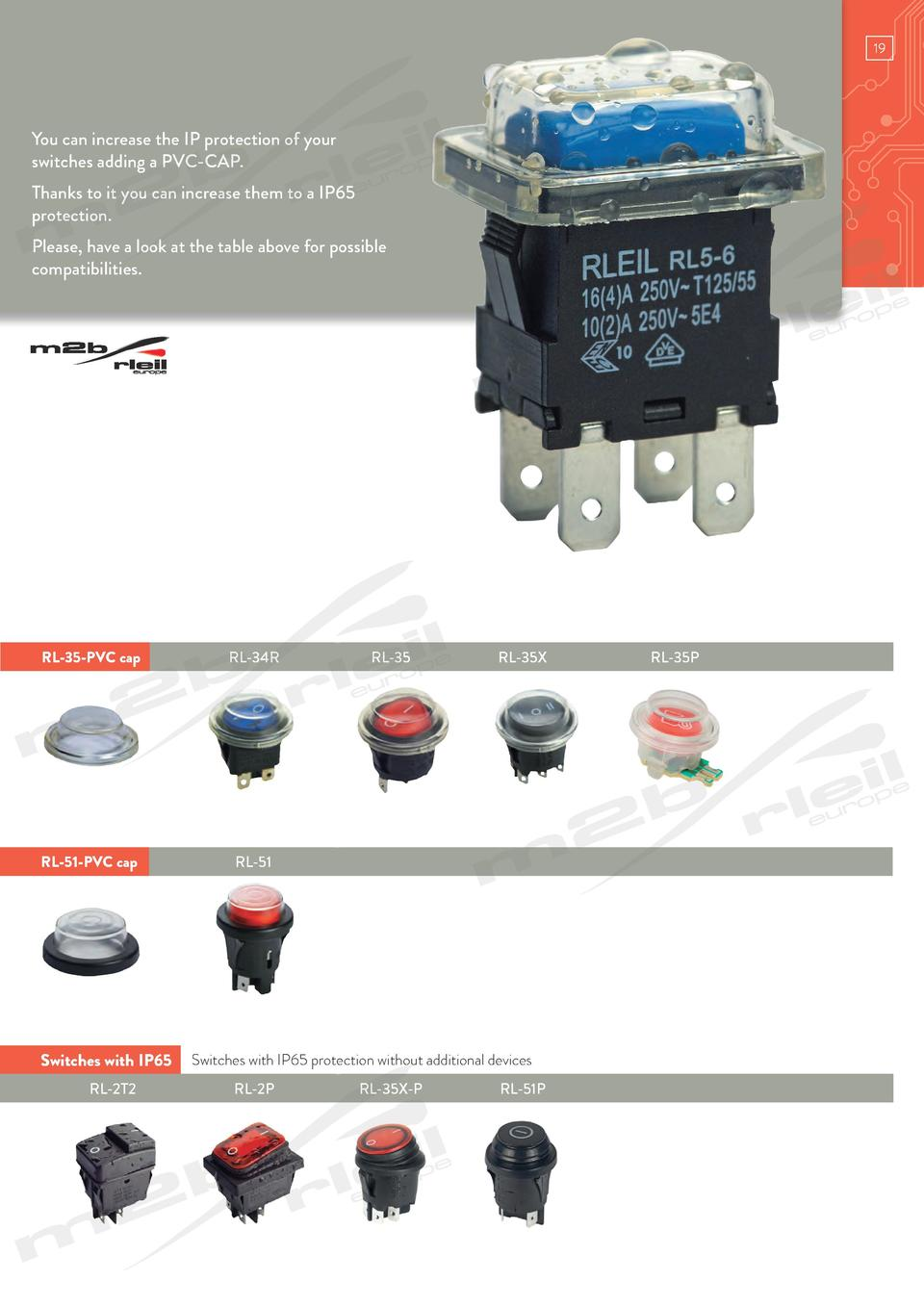 www.m2bswitches.com  You can increase the IP protection of your switches adding a PVC-CAP. Thanks to it you can increase t...