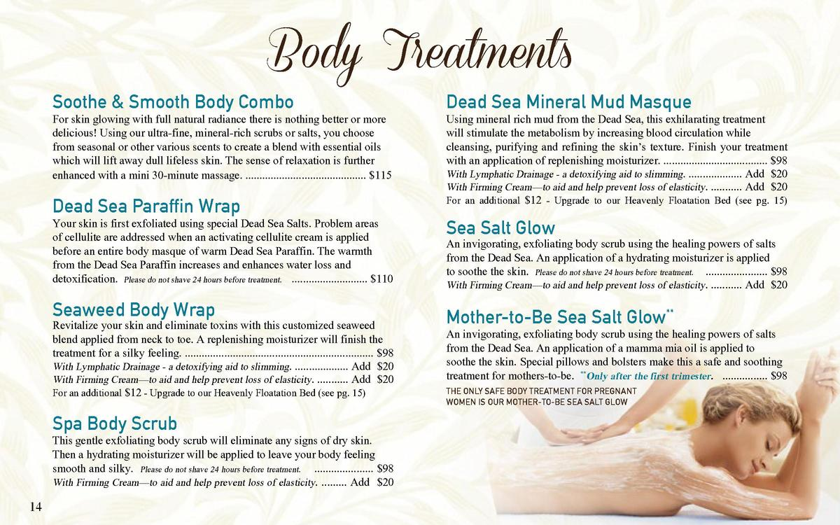 Body Treatments  Soothe   Smooth Body Combo  For skin glowing with full natural radiance there is nothing better or more d...