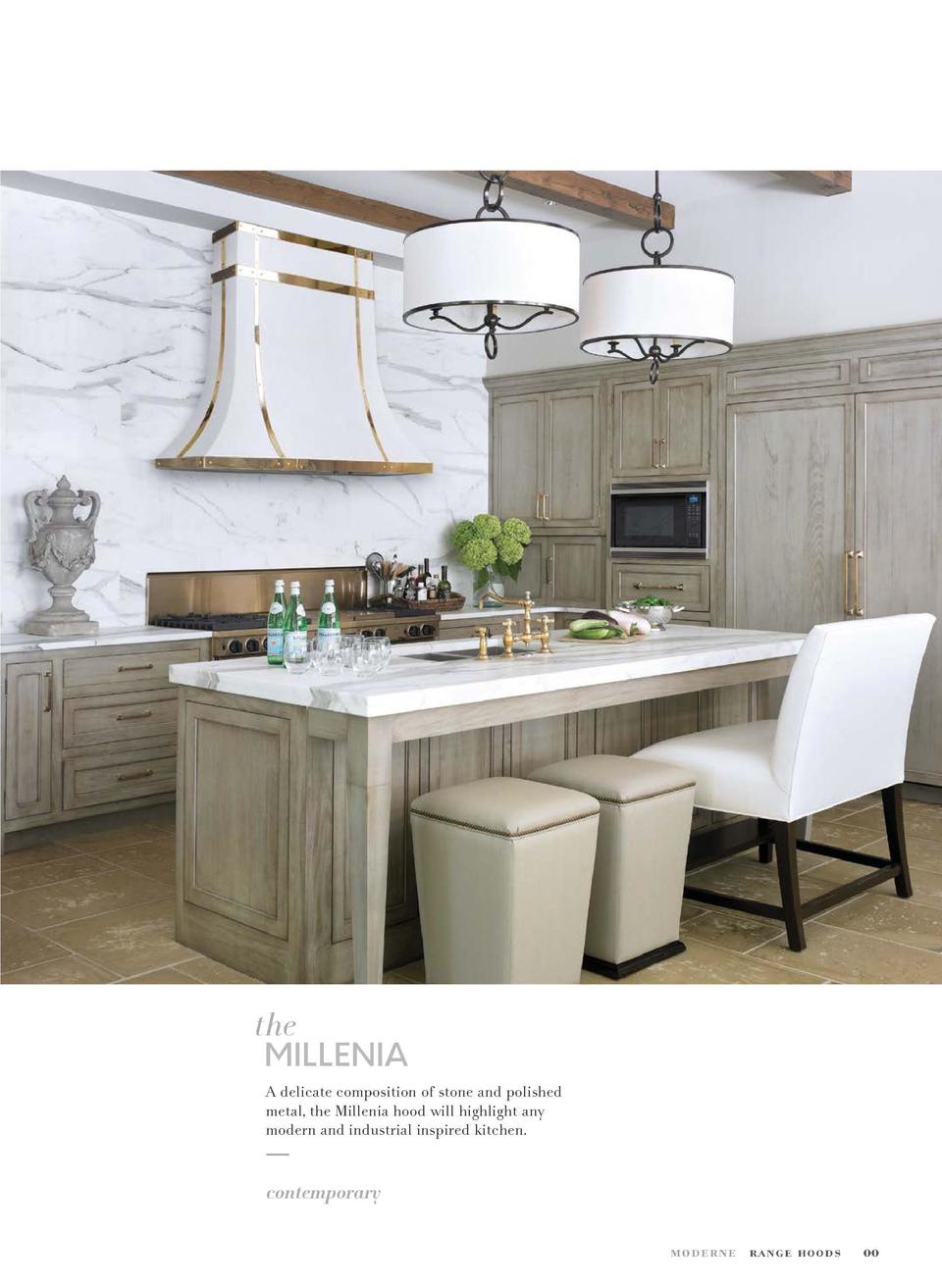 00 Millenia MATERIAL  Scagliola Stone    Ivory ACCENTS  Polished Brass  the  MILLENIA A delicate composition of stone and ...