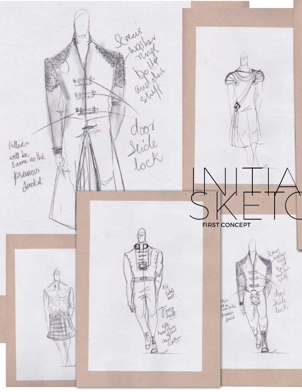 INITIAL SKETCHES FIRST CONCEPT