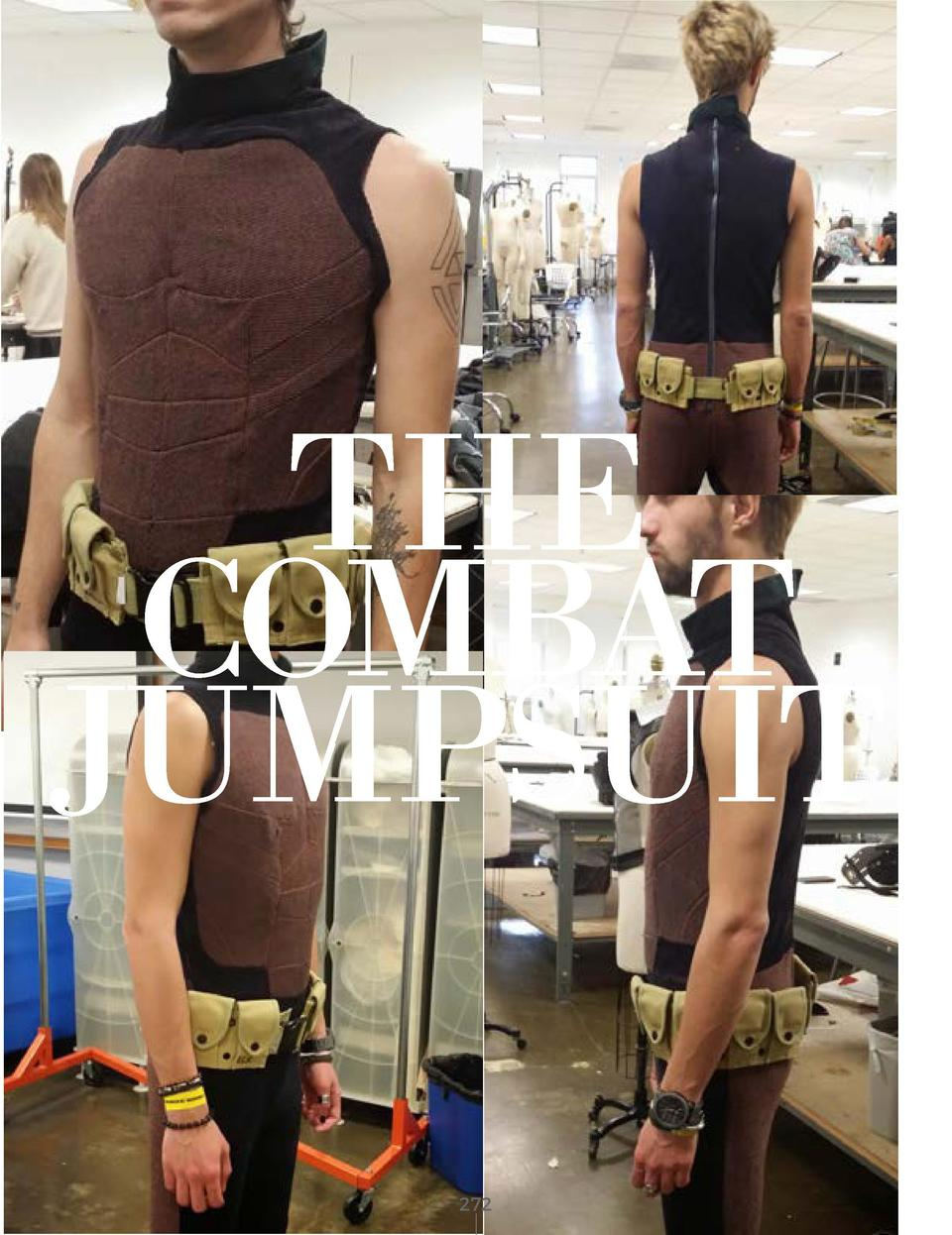 THE COMBAT JUMPSUIT TINTED BROWN CORDOROYE DYED BLACK CORDOROYE       272