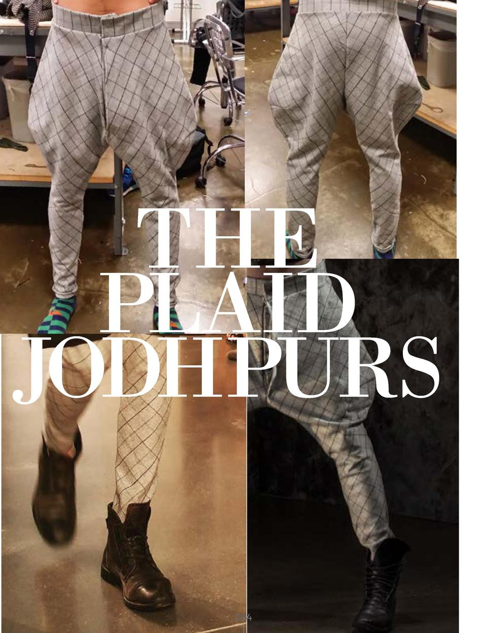 THE PLAID JODHPURS GREY WOOLEN PLAID FABRIC WITH BLACK SATIN LINING       284