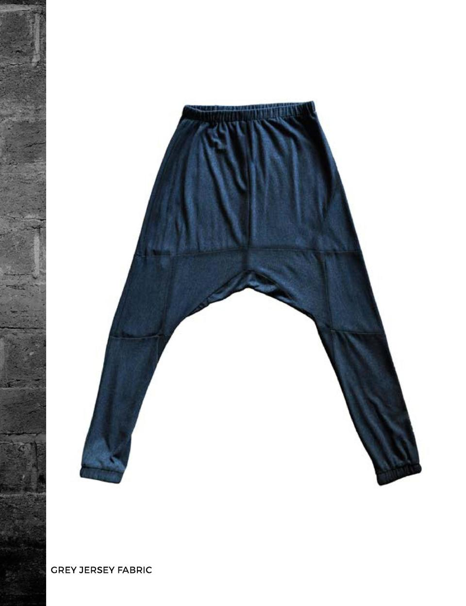 THE BOLTED JOGGER PANTS GREY JERSEY FABRIC