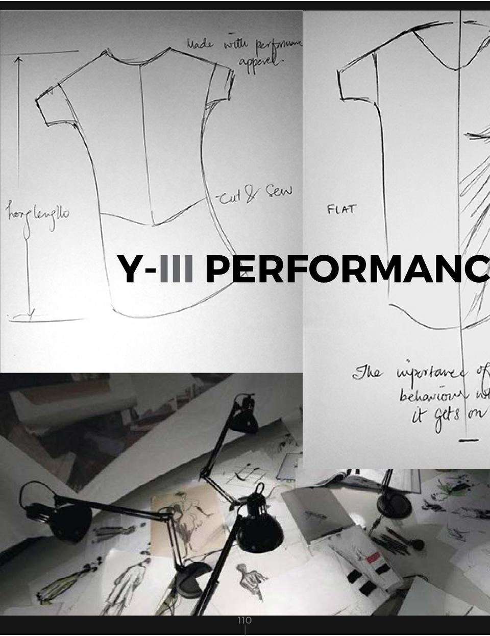 Y-III PERFORMANCE  BLACK POLYESTER SPANDEX PERFORMANCE FABRIC  111            110