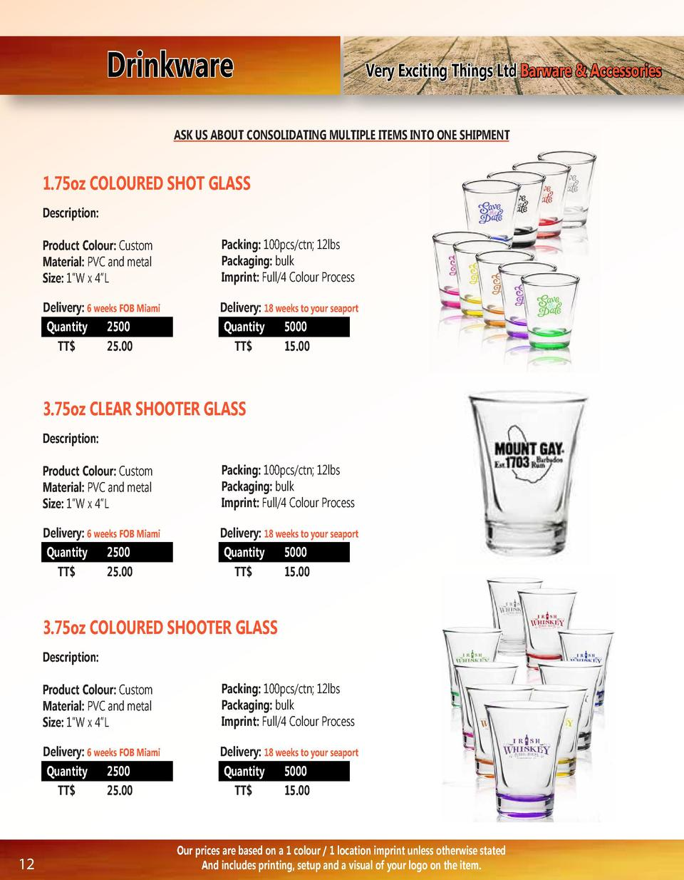 Drinkware  Very Exciting Things Ltd Barware   Accessories  ASK US ABOUT CONSOLIDATING MULTIPLE ITEMS INTO ONE SHIPMENT  1....