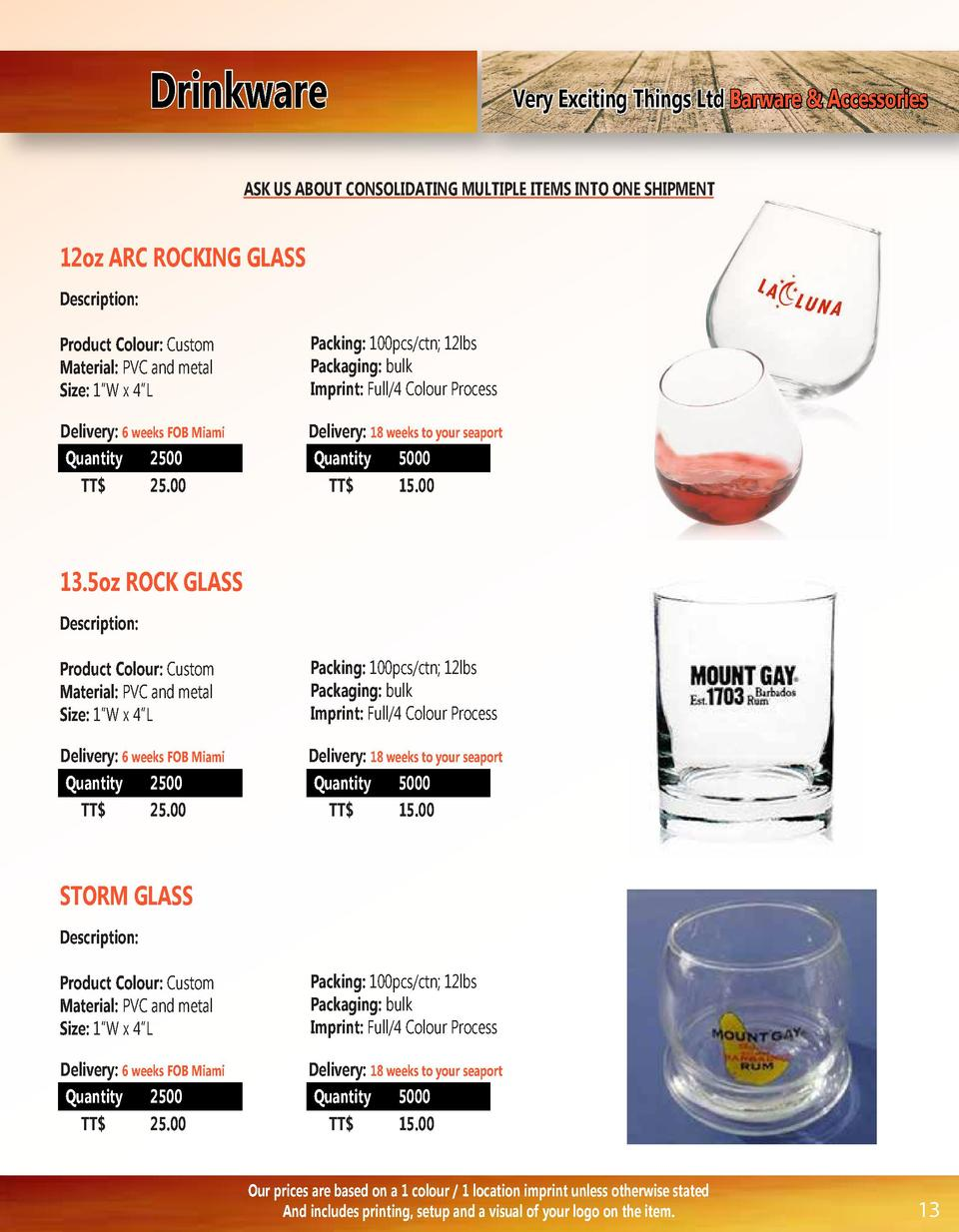 Drinkware  Very Exciting Things Ltd Barware   Accessories  ASK US ABOUT CONSOLIDATING MULTIPLE ITEMS INTO ONE SHIPMENT  12...