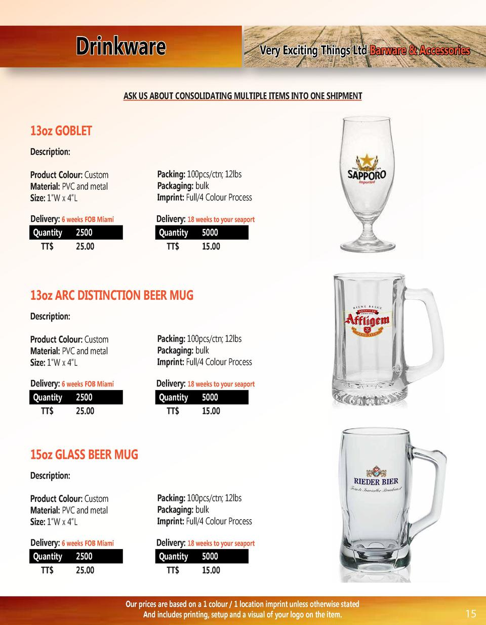 Drinkware  Very Exciting Things Ltd Barware   Accessories  ASK US ABOUT CONSOLIDATING MULTIPLE ITEMS INTO ONE SHIPMENT  13...