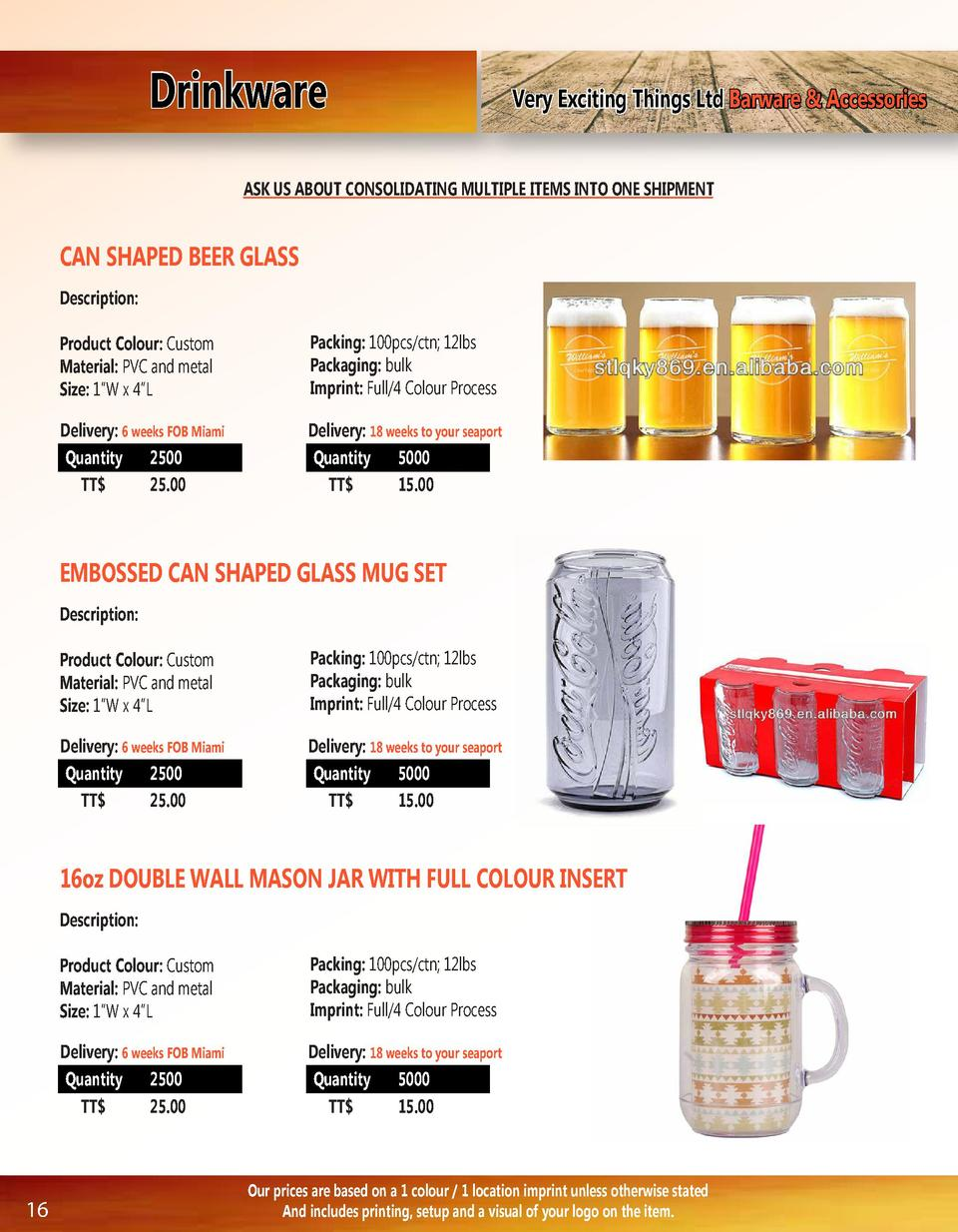 Drinkware  Very Exciting Things Ltd Barware   Accessories  ASK US ABOUT CONSOLIDATING MULTIPLE ITEMS INTO ONE SHIPMENT  CA...