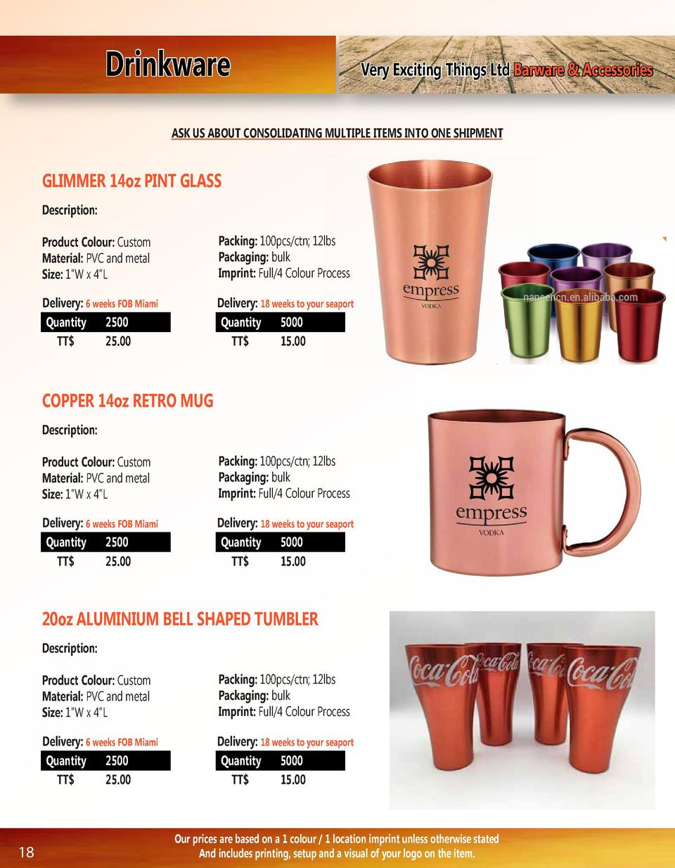Drinkware  Very Exciting Things Ltd Barware   Accessories  ASK US ABOUT CONSOLIDATING MULTIPLE ITEMS INTO ONE SHIPMENT  GL...