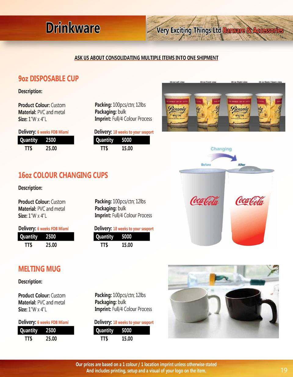 Drinkware  Very Exciting Things Ltd Barware   Accessories  ASK US ABOUT CONSOLIDATING MULTIPLE ITEMS INTO ONE SHIPMENT  9o...