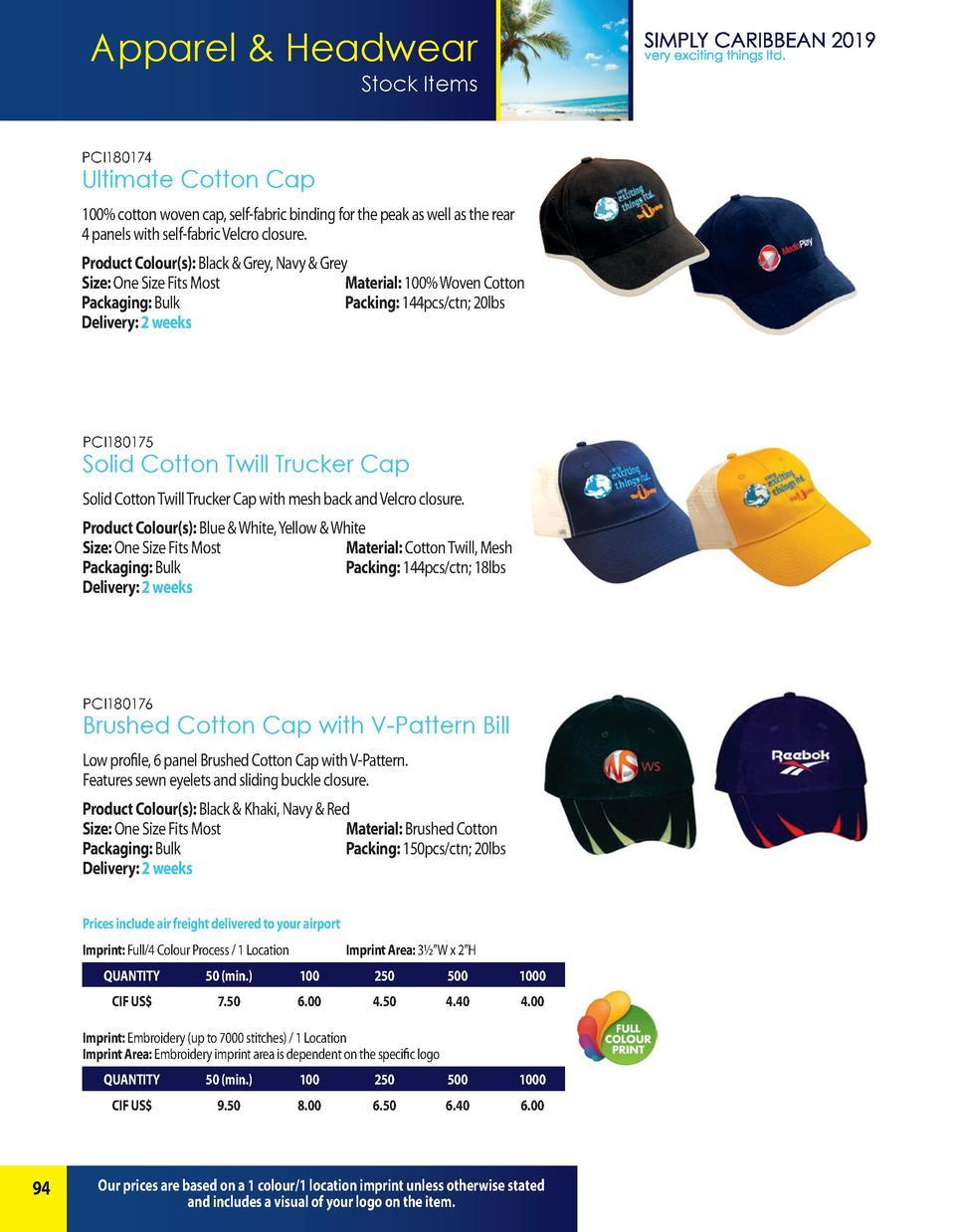 26fb1383 Apparel Headwear Stock Items PCI180174 Ultimate Cotton Cap 100 cotton woven  cap, self-fabric