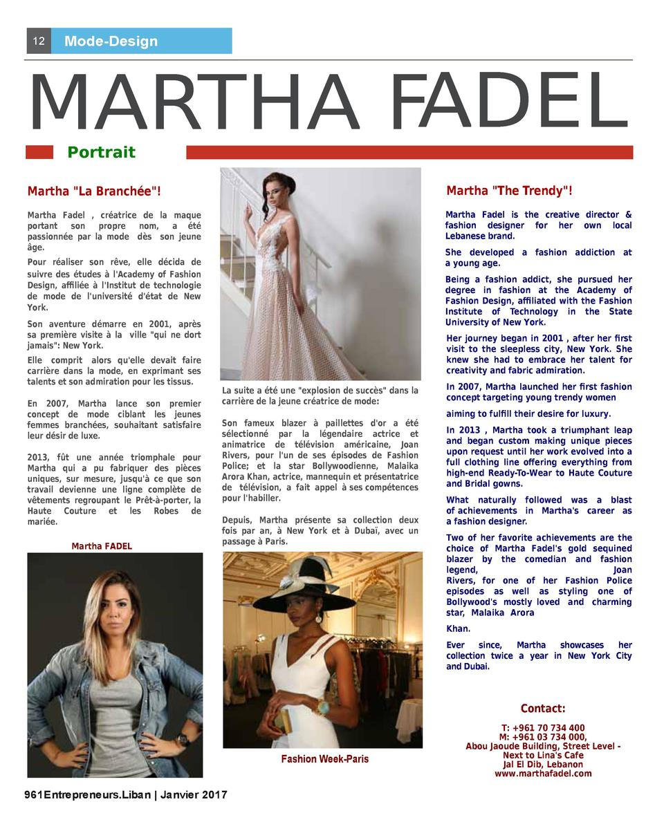 12  Mode-Design  MARTHA FADEL Portrait  Martha  La Branch  e    Martha  The Trendy    Martha Fadel , cr  atrice de la maqu...
