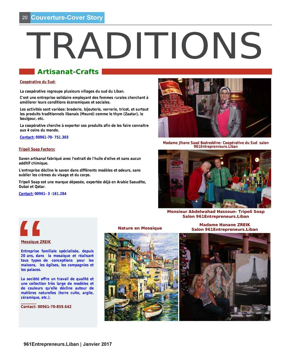 20  Couverture-Cover Story  TRADITIONS Artisanat-Crafts  Coop  rative du Sud  La coop  rative regroupe plusieurs villages ...