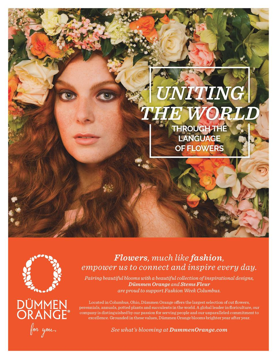 UNITING THE WORLD THROUGH THE LANGUAGE OF FLOWERS  AD  Flowers, much like fashion, empower us to connect and inspire every...