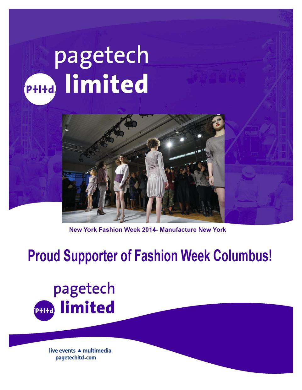 New York Fashion Week 2014- Manufacture New York  Proud Supporter of Fashion Week Columbus