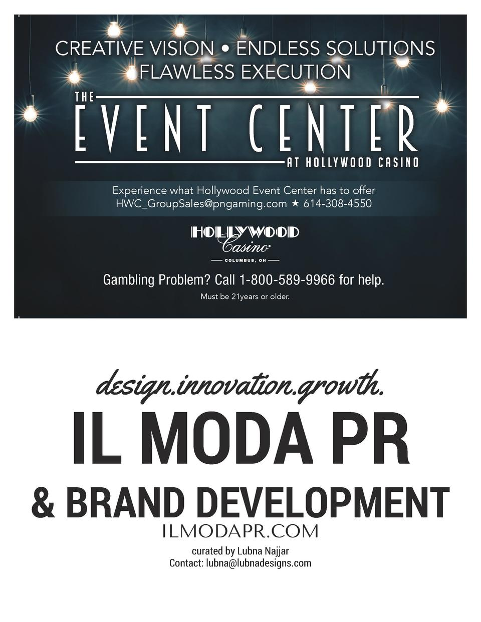 CREATIVE VISION     ENDLESS SOLUTIONS FLAWLESS EXECUTION  Experience what Hollywood Event Center has to offer HWC_GroupSal...