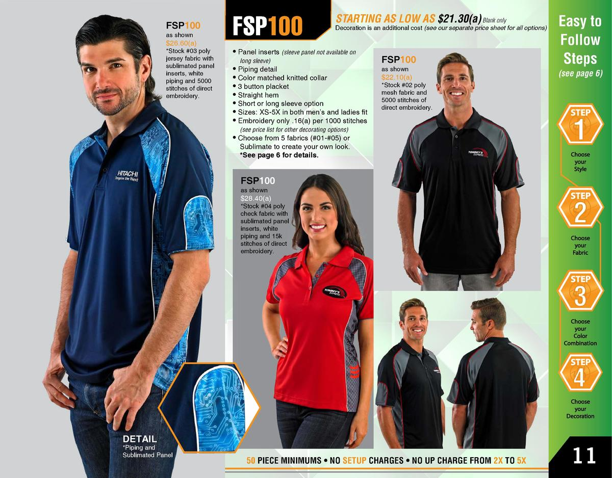 FSP100 as shown   26.60 a    Stock  03 poly jersey fabric with sublimated panel inserts, white piping and 5000 stitches of...