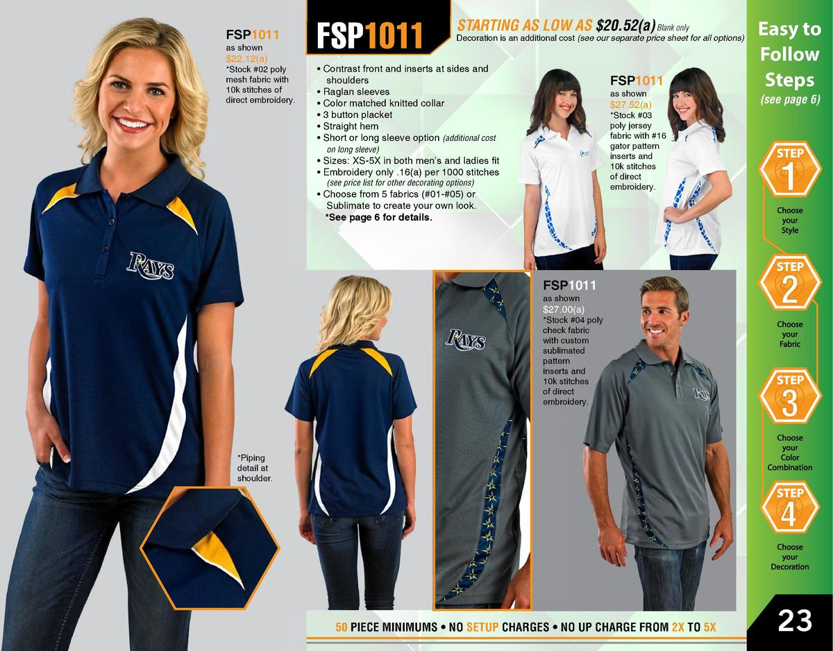 FSP1011 as shown   22.12 a    Stock  02 poly mesh fabric with 10k stitches of direct embroidery.  FSP1011  FSP1011  Easy t...