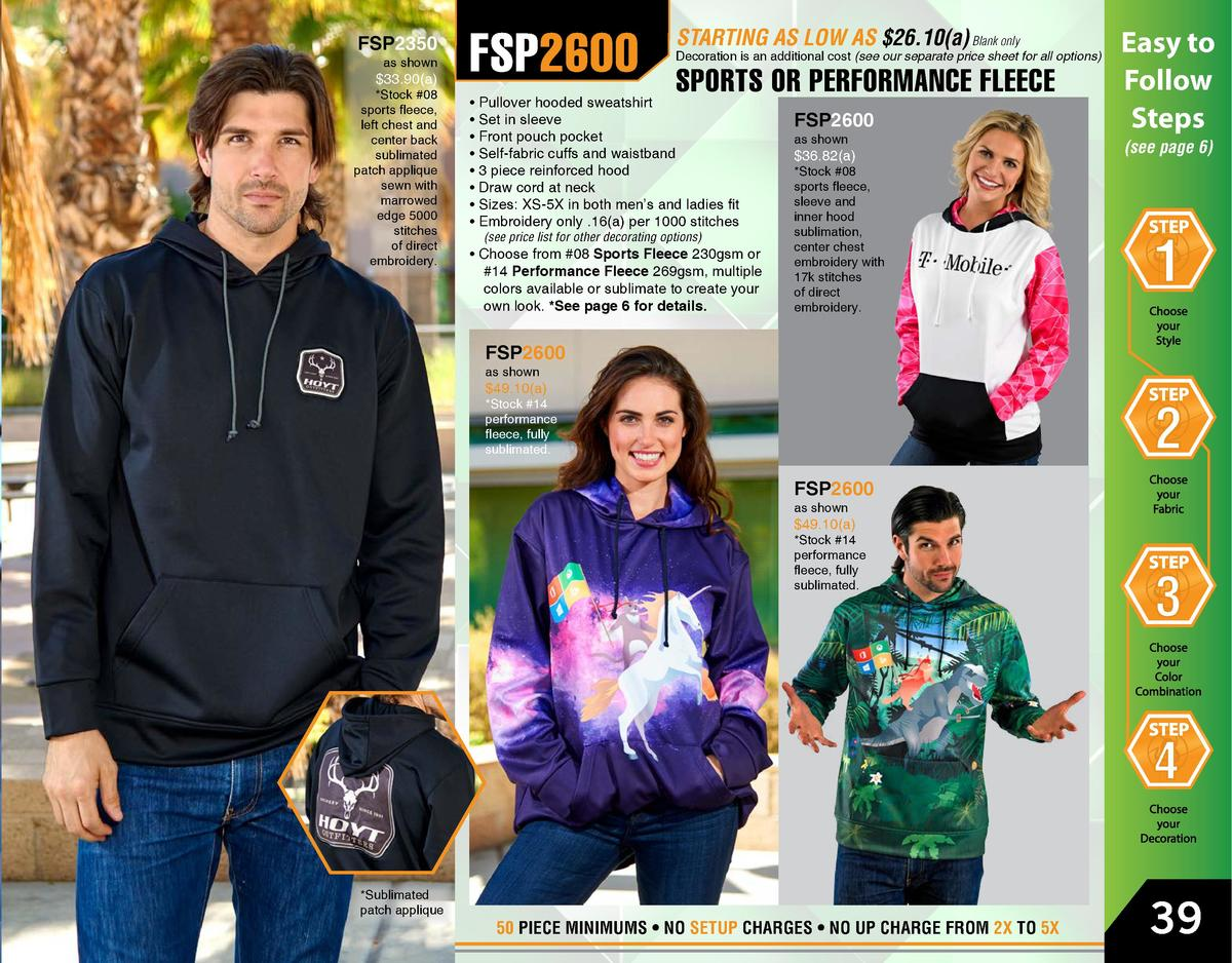 FSP2350  as shown   33.90 a    Stock  08 sports fleece, left chest and center back sublimated patch applique sewn with mar...