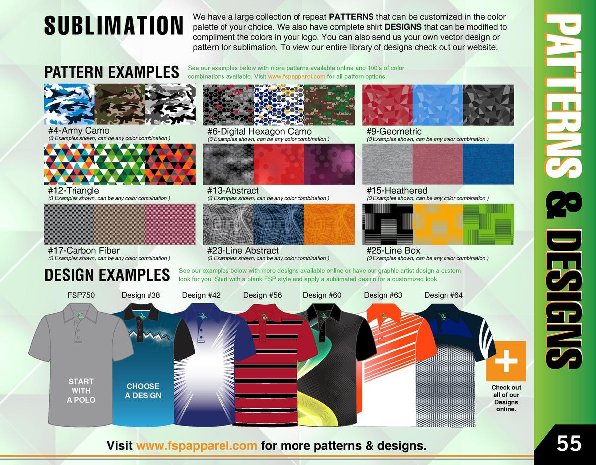 SUBLIMATION PATTERN EXAMPLES  We have a large collection of repeat PATTERNS that can be customized in the color palette of...