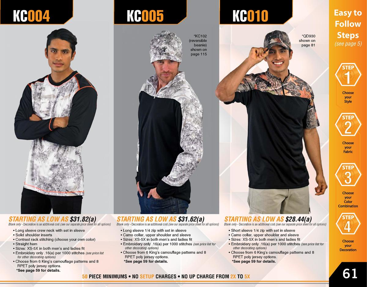 KC004  KC005  KC010  QD930 shown on page 81   KC102  reversible beanie  shown on page 115  STARTING AS LOW AS  31.82 a   B...