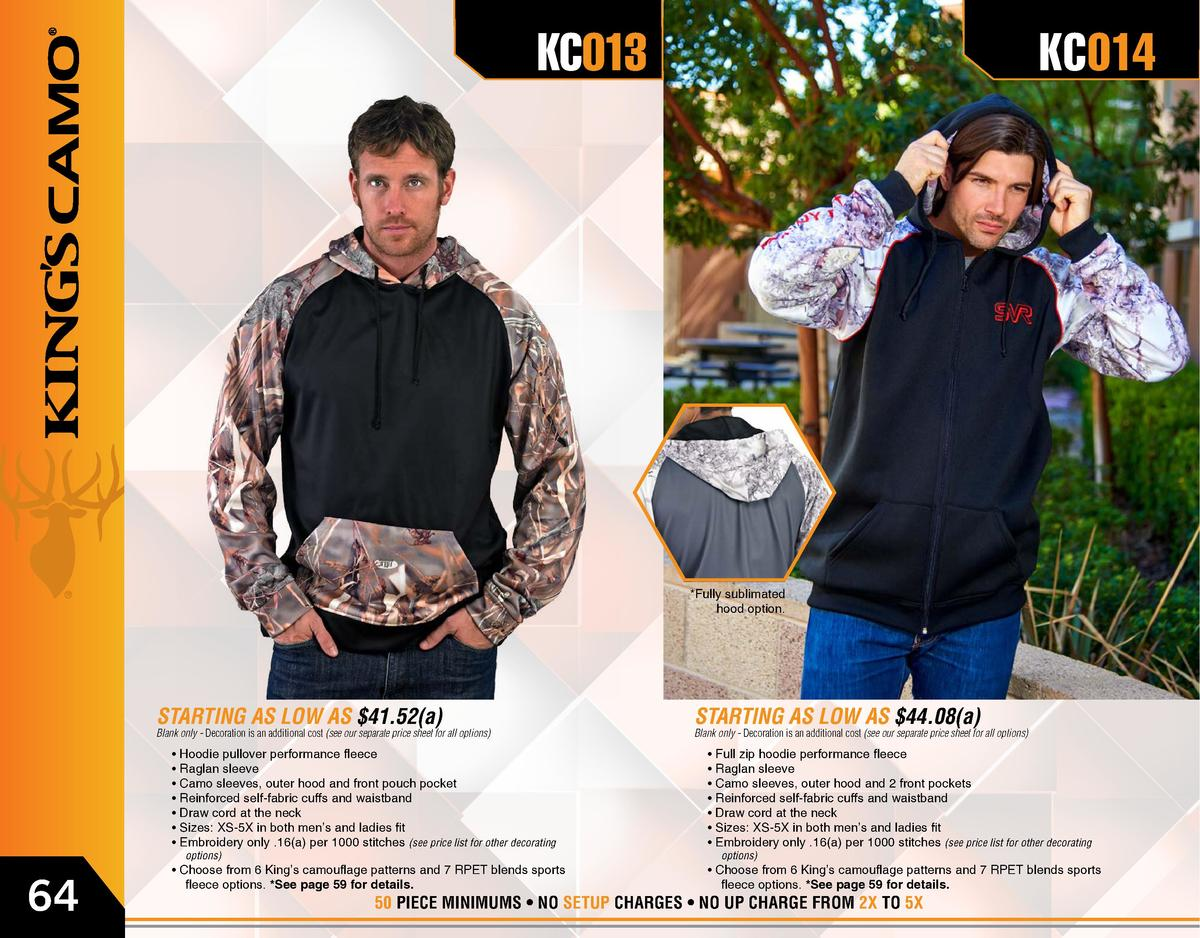 KC013  KC014   Fully sublimated hood option.  STARTING AS LOW AS  41.52 a   Blank only - Decoration is an additional cost ...