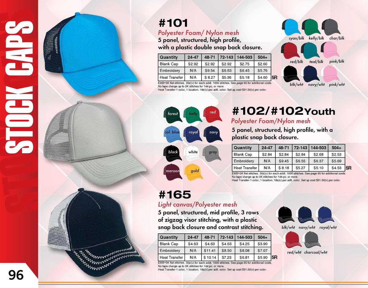 101  101   101  101  Polyester Foam  Nylon mesh  cyan blk  cyan blk kelly blk high char blk 5 panel, structured, profile, ...