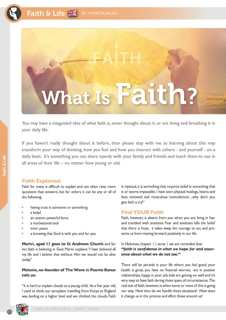 Family guide annual edition 2017 simplebooklet faith life by lynne duncan what is faith you may have a misguided idea of what fandeluxe Choice Image