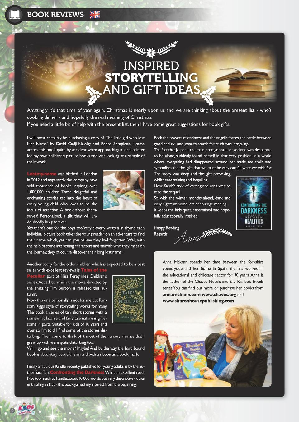 BOOK REVIEWS  INSPIRED STORYTELLING AND GIFT IDEAS Amazingly it   s that time of year again. Christmas is nearly upon us a...