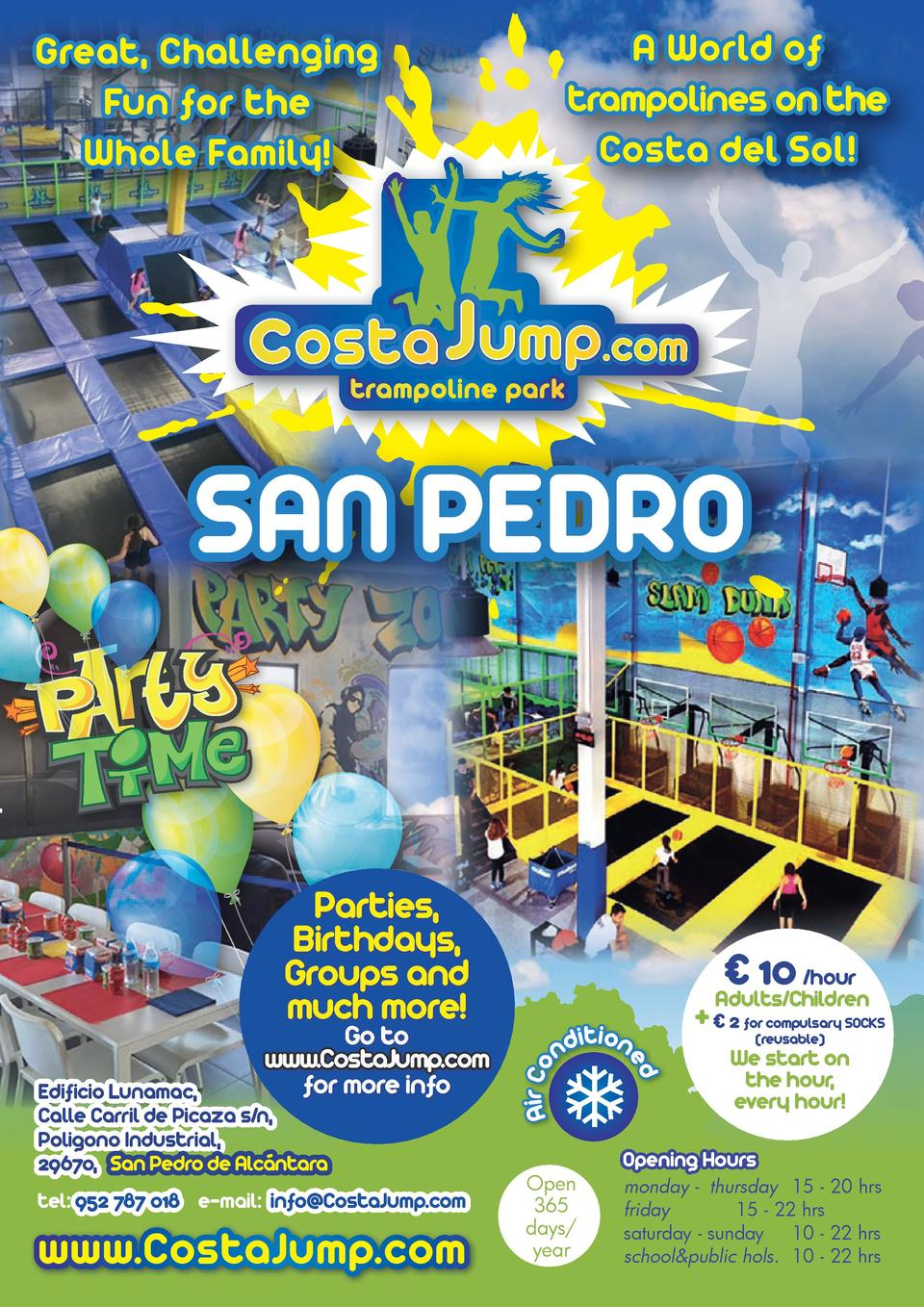 A World of trampolines on the Costa del Sol   Great, Challenging Fun for the Whole Family   SAN PEDRO Fiestas, Parties, Cu...