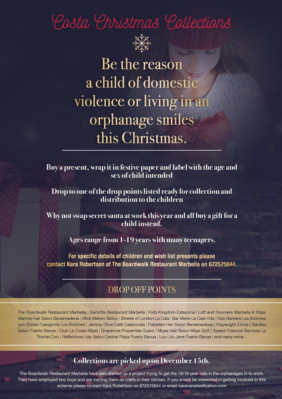 Costa Christmas Collections Be the reason a child of domestic violence or living in an orphanage smiles this Christmas. Bu...