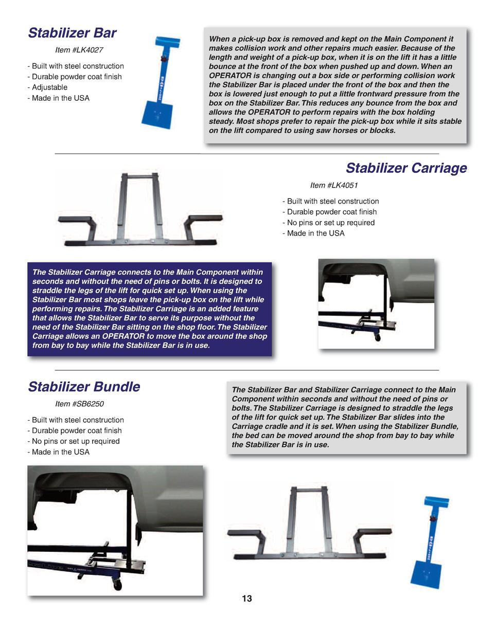 Stabilizer Bar Item  LK4027 - Built with steel construction - Durable powder coat finish - Adjustable - Made in the USA  W...