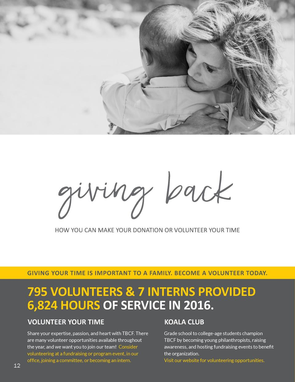 DONATE TODAY  WAYS YOU CAN GIVE DONATIONS   TRIBUTES  giving back HOW YOU CAN MAKE YOUR DONATION OR VOLUNTEER YOUR TIME  G...