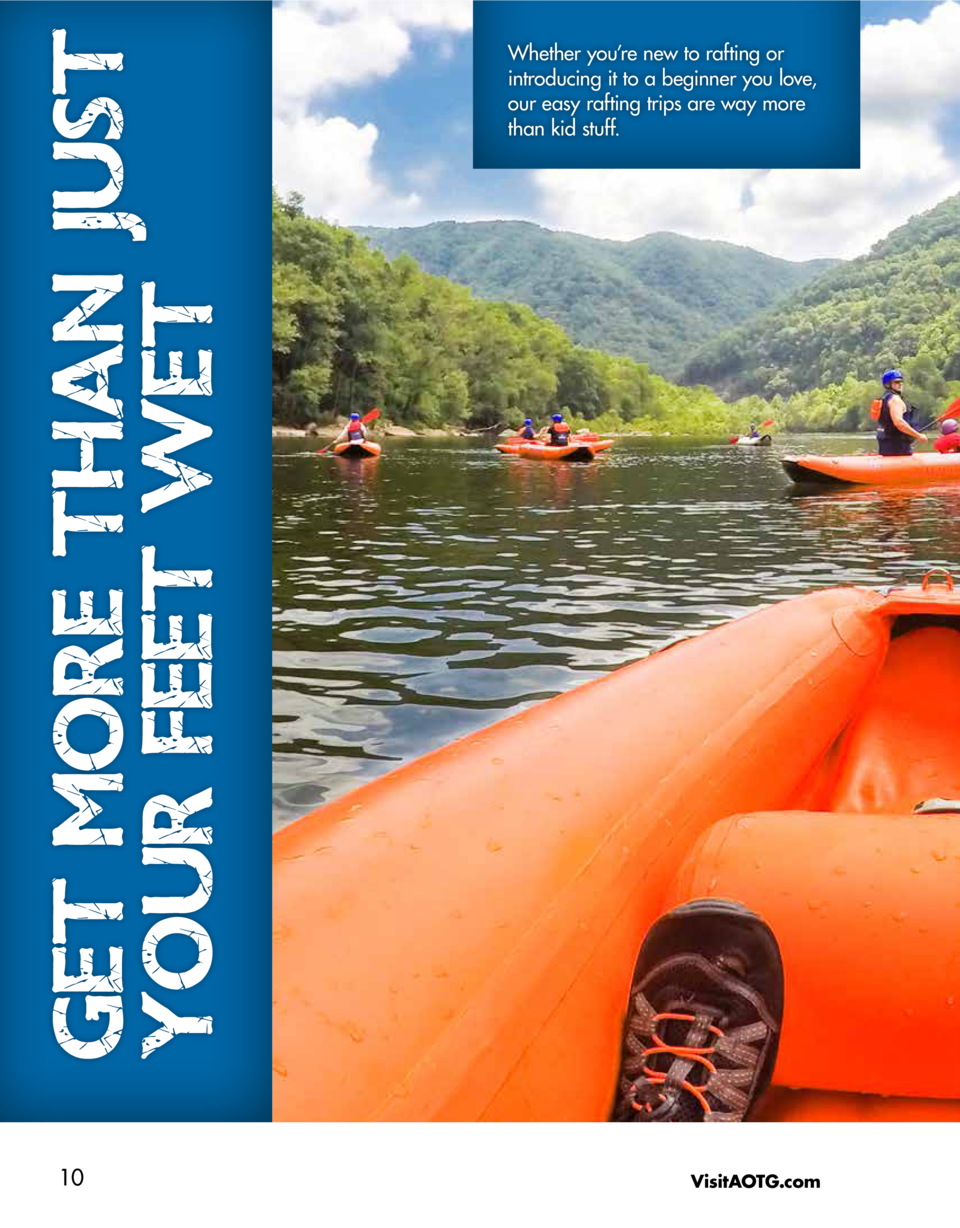 GET MORE THAN JUST YOUR FEET WET 10  Whether you   re new to rafting or introducing it to a beginner you love, our easy ra...