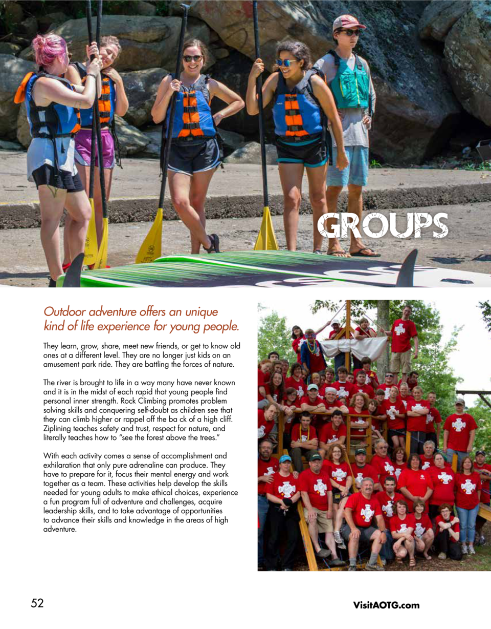 GROUPS Outdoor adventure offers an unique kind of life experience for young people. They learn, grow, share, meet new frie...