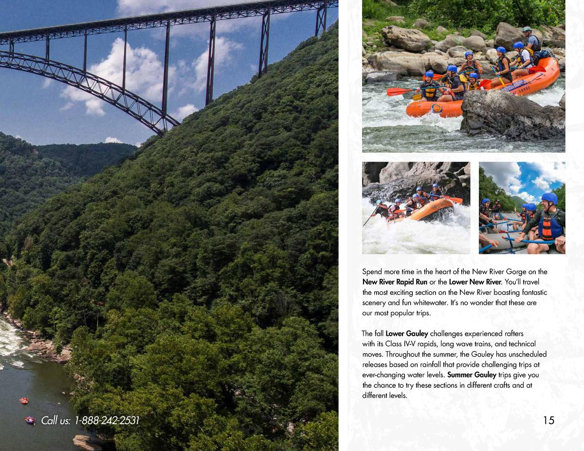 Spend more time in the heart of the New River Gorge on the New River Rapid Run or the Lower New River. You   ll travel the...