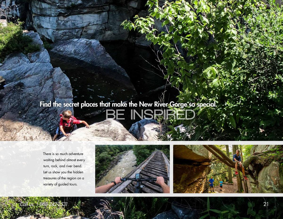 Find the secret places that make the New River Gorge so special.  BE INSPIRED  There is so much adventure waiting behind a...
