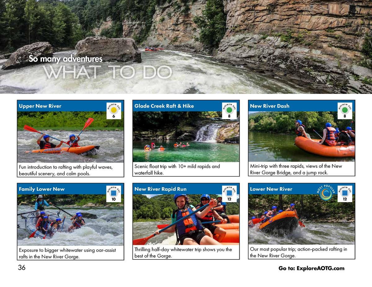 So many adventures  MIN  POPU  IM  UM  GE  MIN  ST  10  12  12  Exposure to bigger whitewater using oar-assist rafts in th...