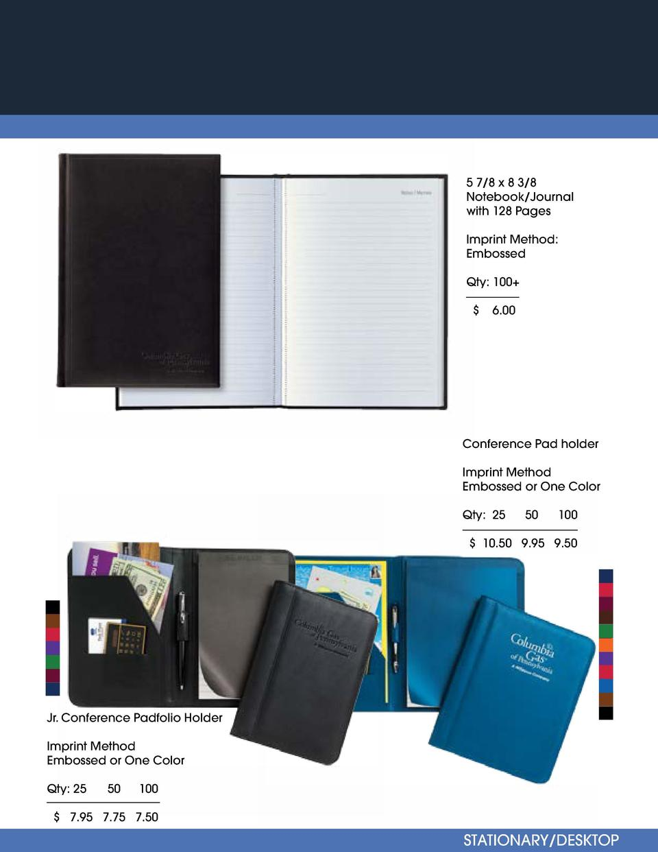 HEADWEAR   Fully Customizable 5 7 8 x 8 3 8 Notebook Journal with 128 Pages DK Custom Style  1  Imprint Method  Embossed  ...