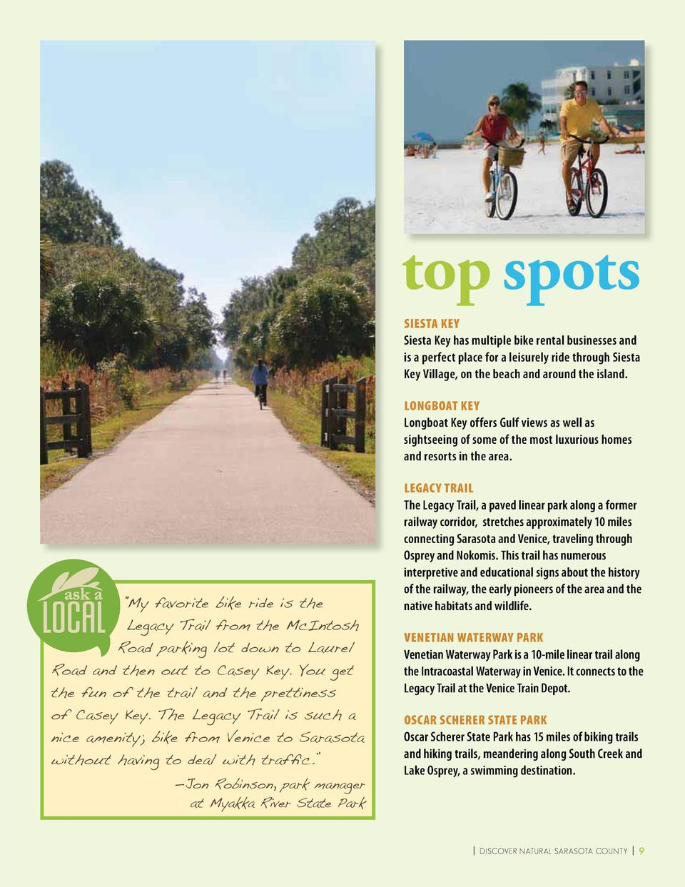 CYCLING  W  iith miles of scenic beauty along the coast and inland trails, cycling is a ggreat option for traveling and si...