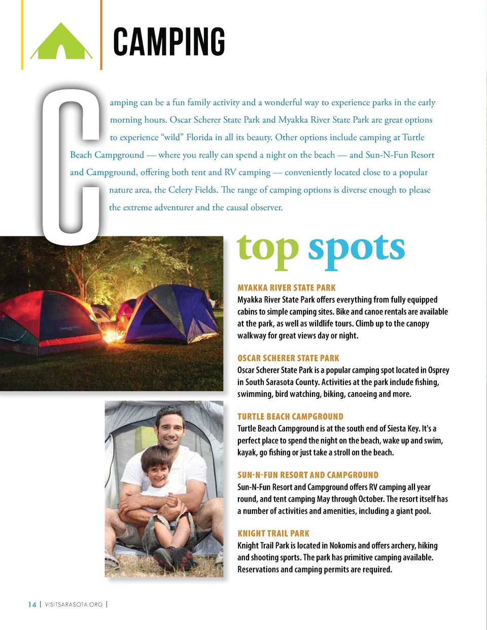 C  camping amping can be a fun family activity and a wonderful way to experience parks in the early morning hours. Oscar S...