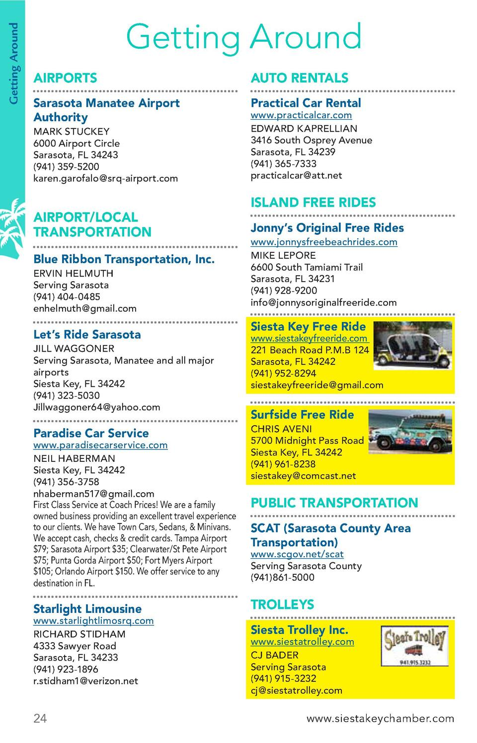 Getting Around  Getting Around AIRPORTS  AUTO RENTALS  Sarasota Manatee Airport Authority  Practical Car Rental  MARK STUC...