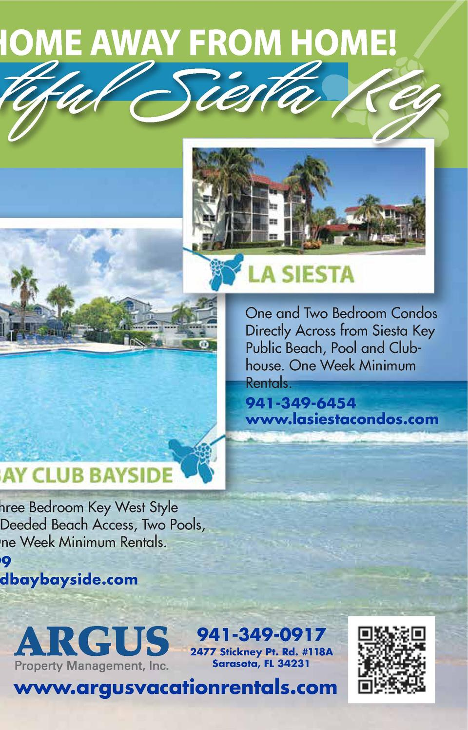 utiful Siesta Key One and Two Bedroom Condos Directly Across from Siesta Key Public Beach, Pool and Clubhouse. One Week Mi...